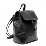 Дамска раница в черен цвят от еко кожа-155-5