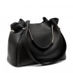 Дамска чанта от еко кожа черна - 99