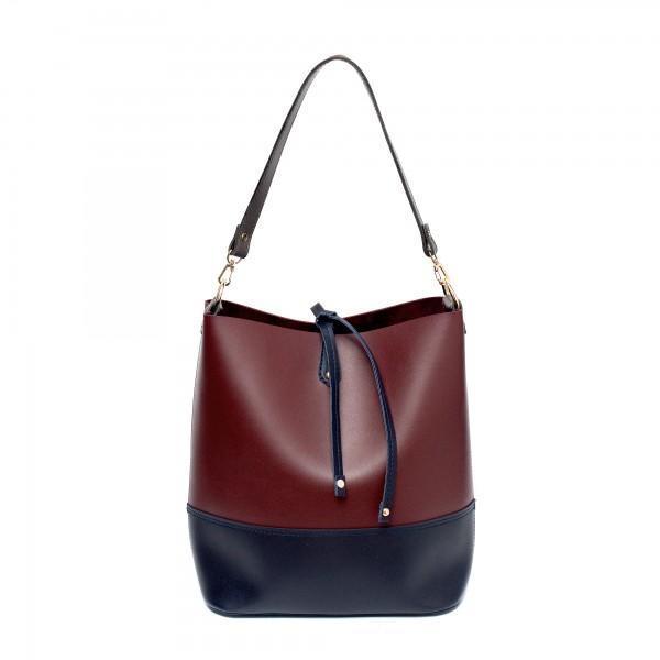 Дамска ежедневна чанта от еко кожа бордо-703