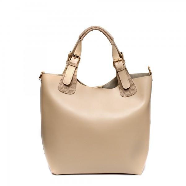 Дамска пролетна чанта от еко кожа в бежово-704