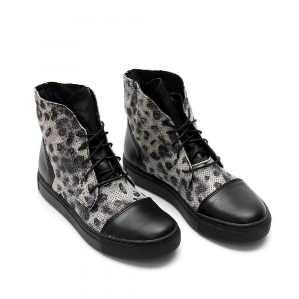 Дамски кецове от естествена кожа леопард - 24
