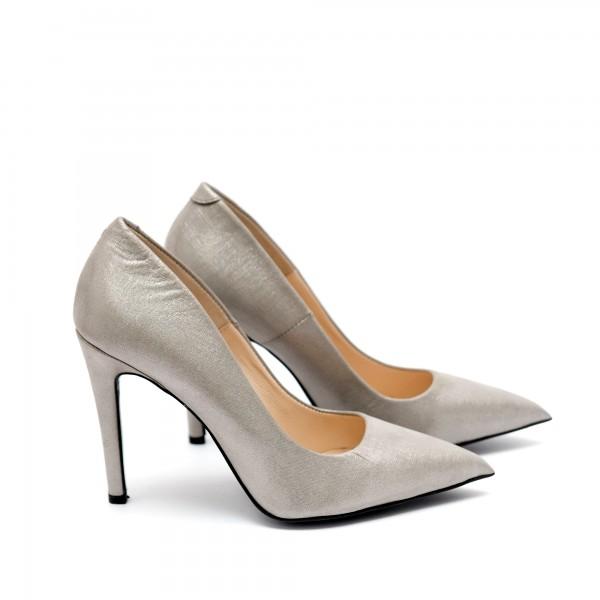 Дамски елегантни обувки от естествена кожа с ток - 171