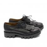 Дамски обувки от естествена кожа с ресни - 109