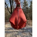 Дамска раница червена от еко кожа-151-7