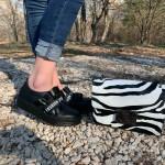 Черни дамски обувки от естествена кожа-1230