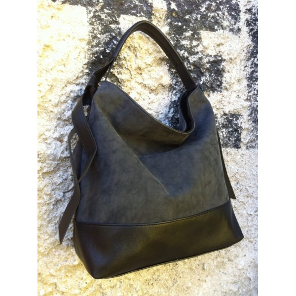 Дамска чанта от еко кожа черна - 1203