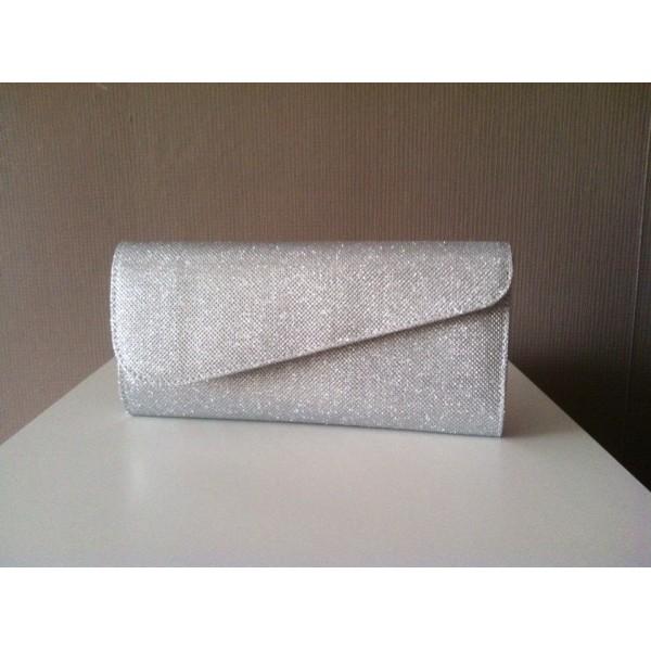 Дамска абитуриетнска  чанта сребриста-176
