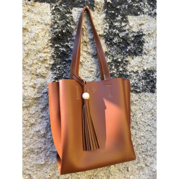 Дамска ежедневна чанта от еко кожа - 1219