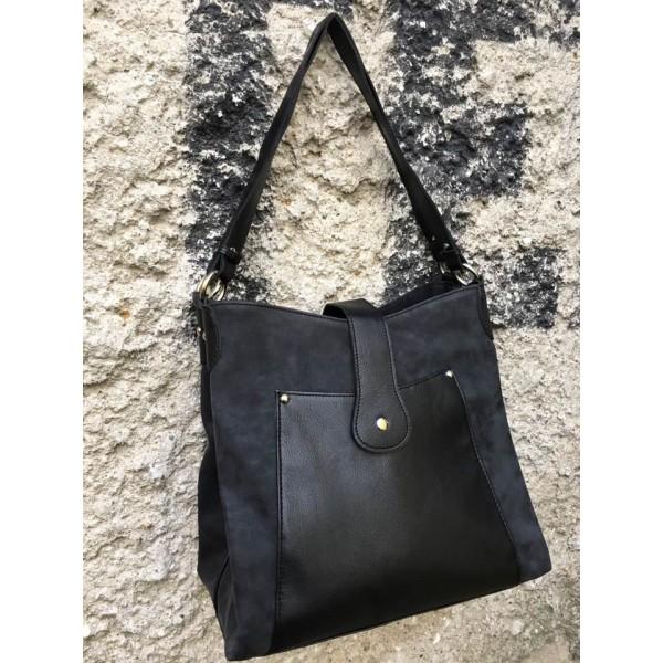 Дамска чанта от еко кожа черна - 1232