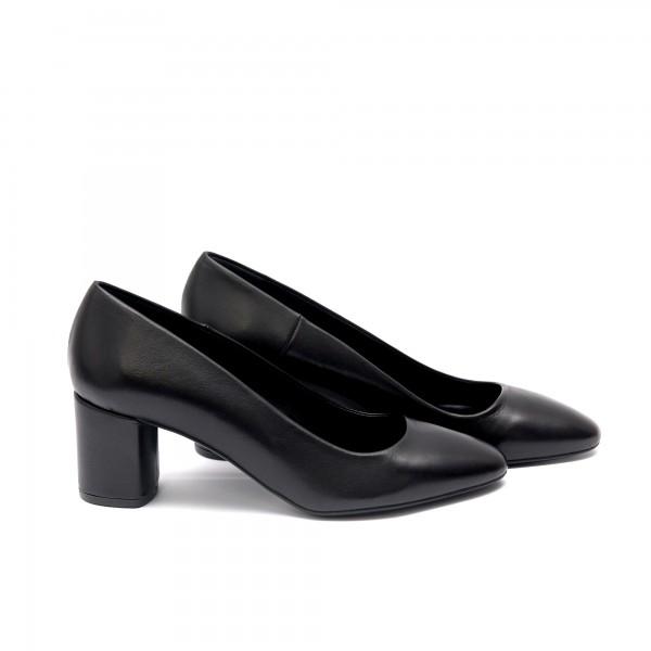 Дамски обувки от естествена кожа с ток - 168