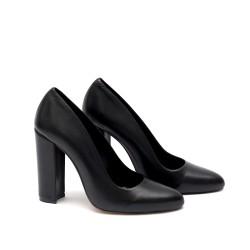 Дамски обувки с висок ток от естествена кожа - 326