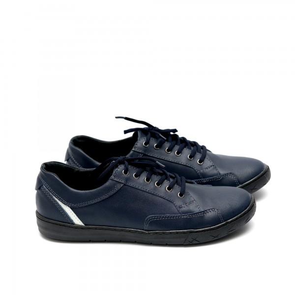 Мъжки ежедневни обувки от естествена кожа син цвят - 161