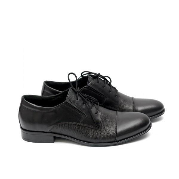 Мъжки  обувки от естествена кожа черни - 62