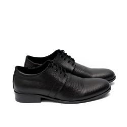 Мъжки елегантни обувки от естествена кожа черни - 46