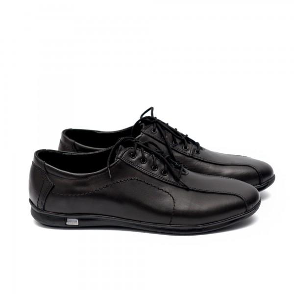 Мъжки  обувки от естествена кожа черни - 122