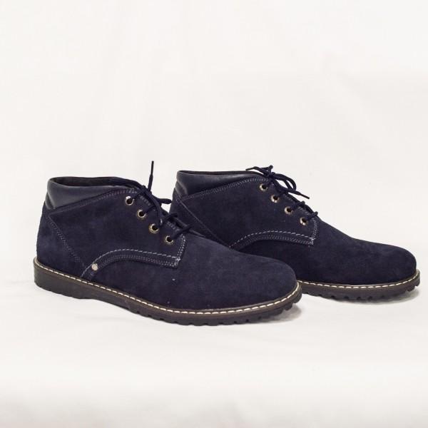 Мъжки ежедневни обувки от естествен велур сини -123