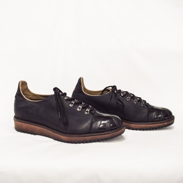 Мъжки обувки от естествен набук -193