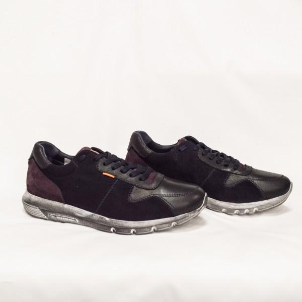 Мъжки спортни обувки от естествен велур и естествена кожа - 89