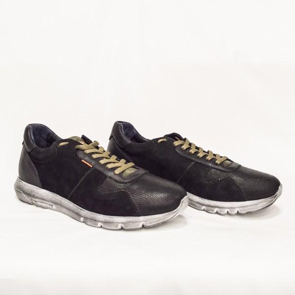 Мъжки спортни обувки от естествен велур и естествена кожа - 87