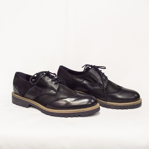Мъжки  обувки от естествена кожа и естествен набук - 88