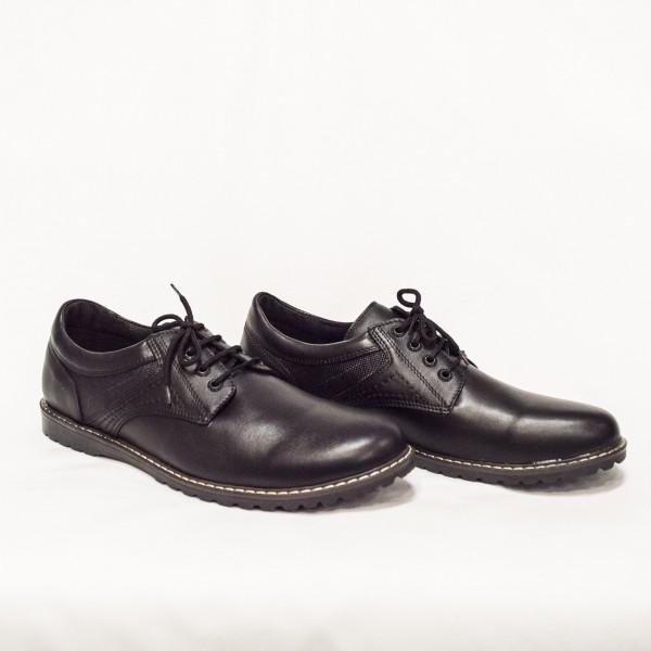 Мъжки обувки  естествена кожа черни - 48