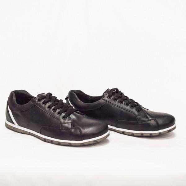 Мъжки  спортни обувки от естествена кожа черни - 51