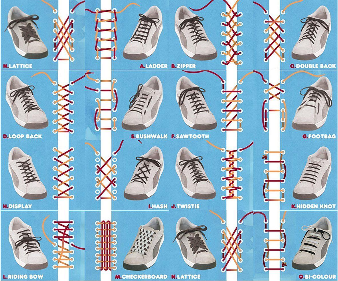 Начини за вързване на връзки на обувки